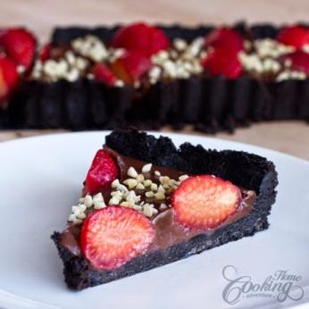 Torta de Chocolate e Morangos sem forno - 3