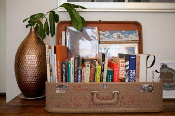 decoração com livros 1